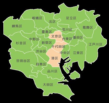 サービス提供エリアの地図